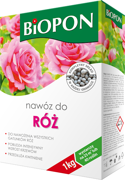 Biopon Nawóz do Róż 1kg karton