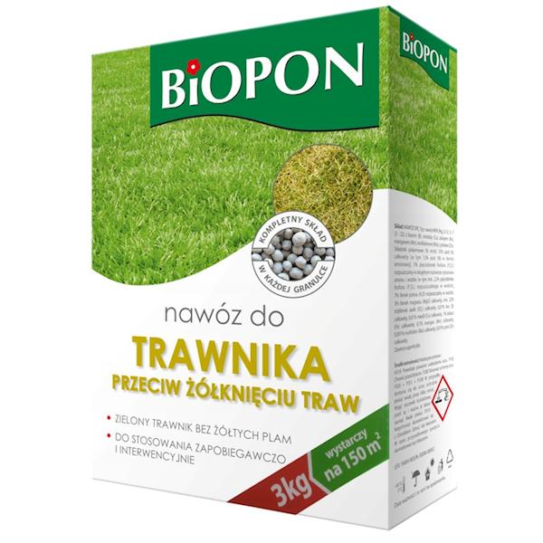 Biopon Nawóz do Traw P/żółknięciu 3kg karton
