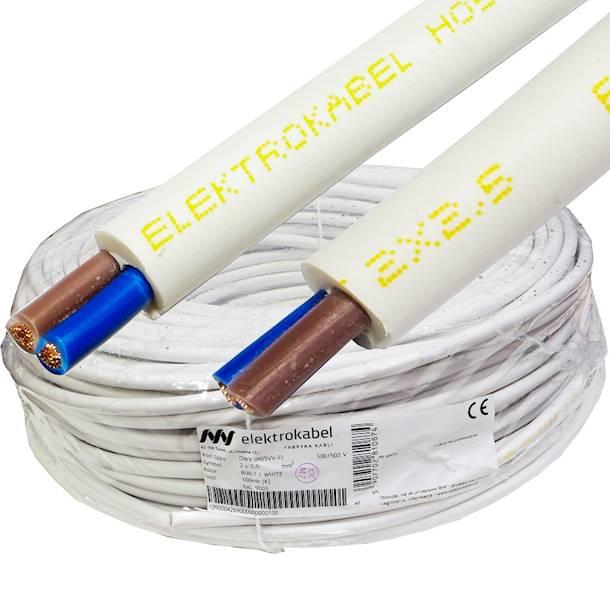 Przewód warsztatowy OWY 2x2,5 biały elektroka 100m