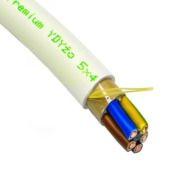 Przewód YDY 5x4 żo 450/750V TFPREMIUM G-139634 1m