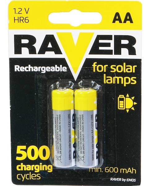 Akumulator Ni-MH R6 AA 600mAh RAVER 2BL