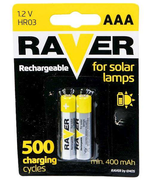 Akumulator Ni-MH R03 AAA 400mAh RAVER 2BL