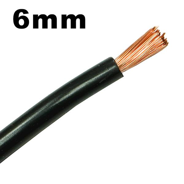Przewód instalacyjny Lgy linka 6mm czarny 1m