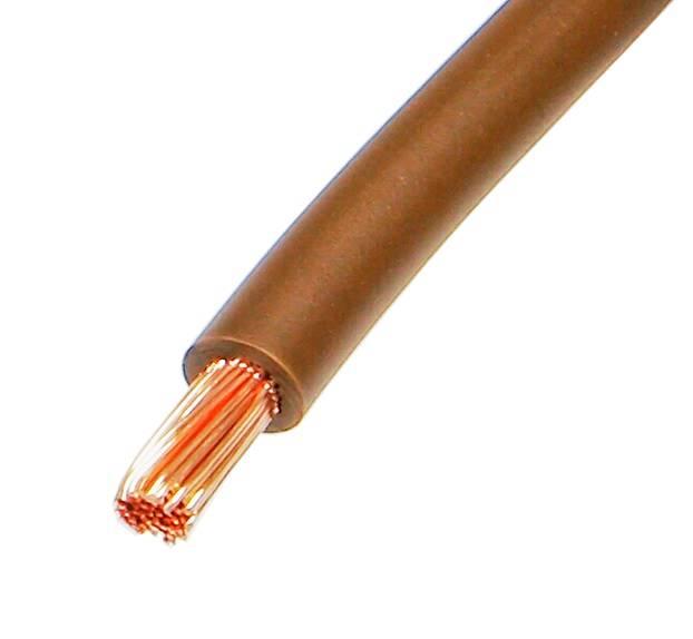 Przewód instalacyjny Lgy linka 6mm brązowy 100m