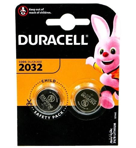 Bateria CR 2032 DURACELL Lithium 2BL 3V