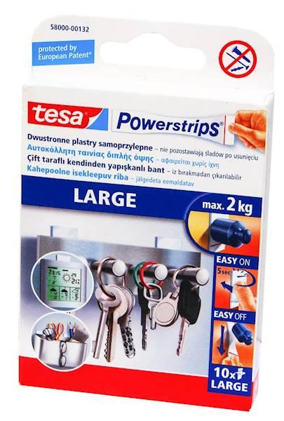 Plastry samoprzylepne POWERSTRIPS duże do 2kg 10sz
