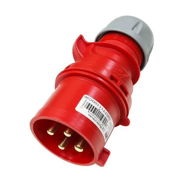 Wtyczka przenośna 32A 4P 400V czerwona IP44 SHARK