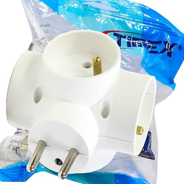 Rozgałeźnik wtyczkowy 4x2P+Z biały R-48