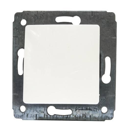 CARIVA 773611 przycisk pojedynczy biały