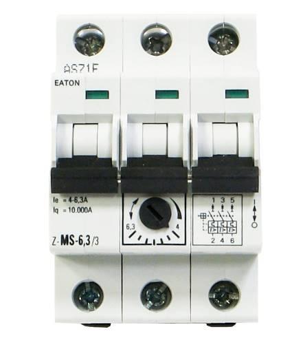 Wyłącznik silnikowy 3P 2,2kW 4-6,3A 248410 EATON