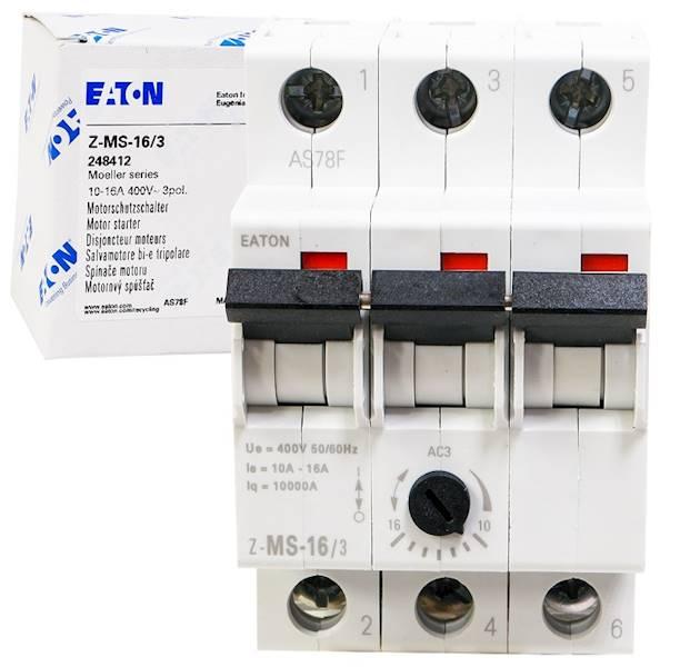 Wyłącznik silnikowy 3P 7,5kW 10-16A 248412 EATON