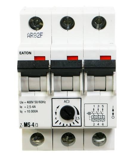 Wyłącznik silnikowy 3P 1,5kW 2,5-4A 248409 EATON