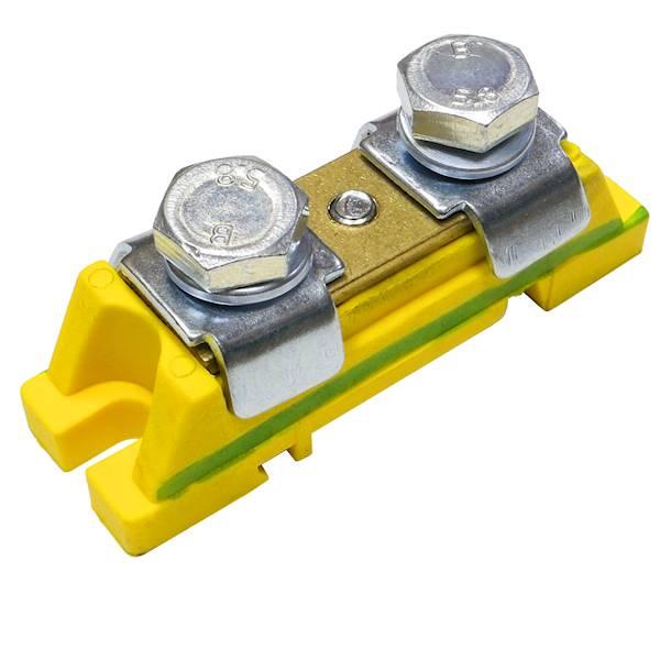 Zacisk ochronny 2X35mm M8 żółty zielony