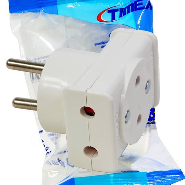 Rozgałęźnik R-1/P 3x2P z przesłonami biały TIMEX-E