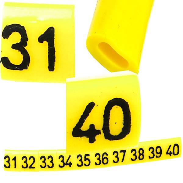 Oznacznik przewodów OZ-0 31-40 żółte 100szt