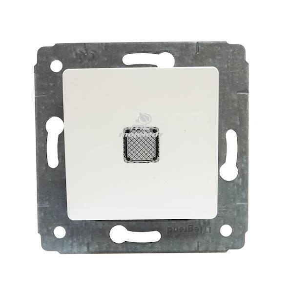 CARIVA 773613 przycisk jednobieg. z podś. biały