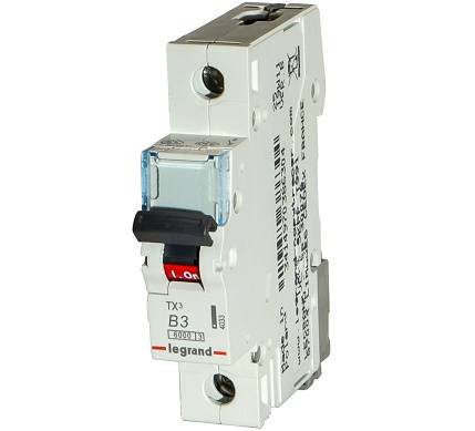 Wył.Nadpr.6kA AC 1p B3A S-301 Legrand TX3 403351