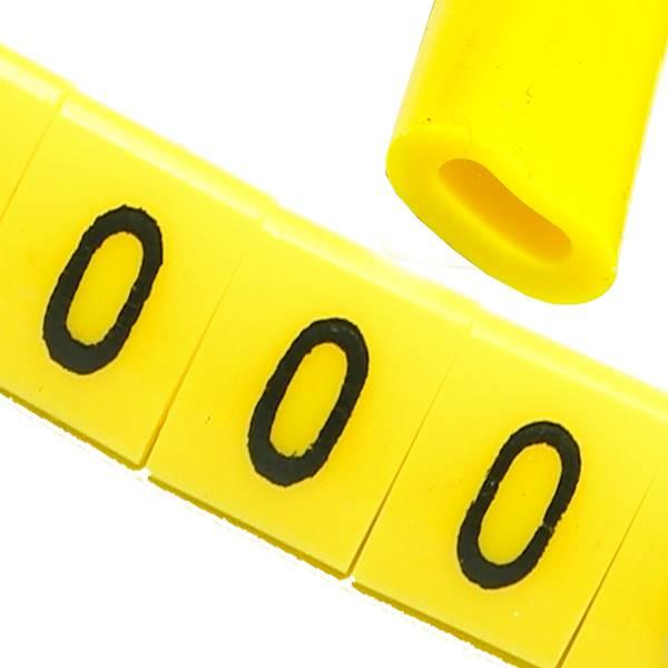 Oznacznik przewodów OZ-0 0 żółte 100szt