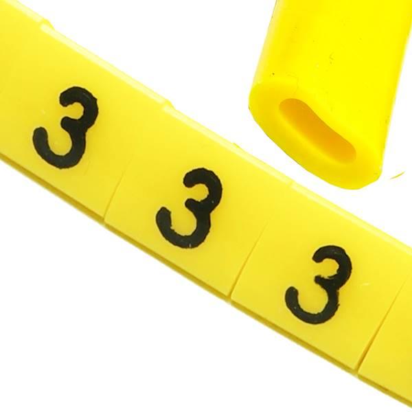 Oznacznik przewodów OZ-0 3 żółte 100szt