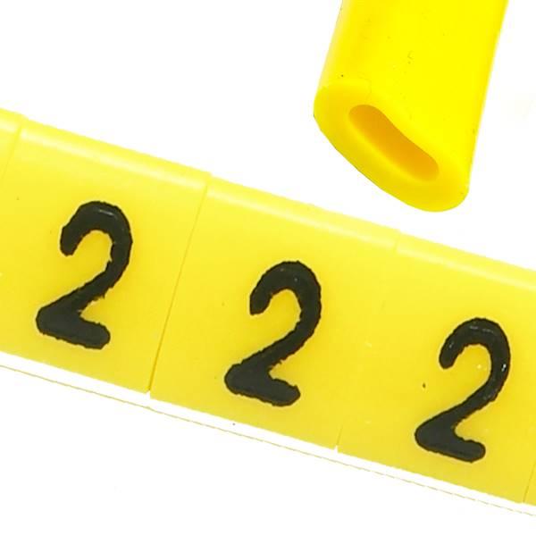 Oznacznik przewodów OZ-0 2 żółte 100szt