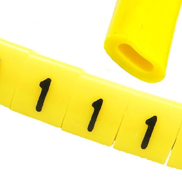 Oznacznik przewodów OZ-0 1 żółte 100szt