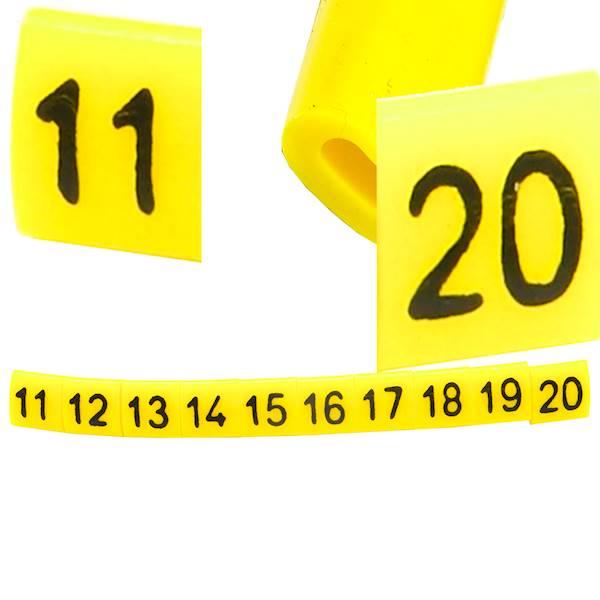 Oznacznik przewodów OZ-0 11-20 żółte 100szt
