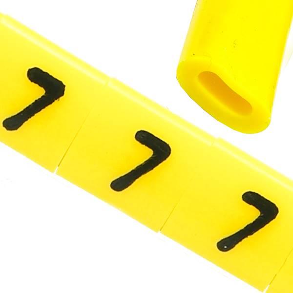 Oznacznik przewodów OZ-0 7 żółte 100szt