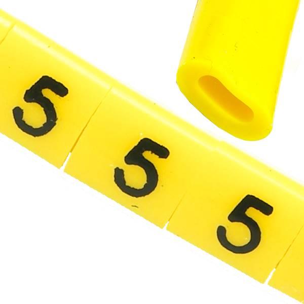 Oznacznik przewodów OZ-0 5 żółte 100szt