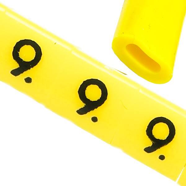 Oznacznik przewodów OZ-0 9 żółte 100szt