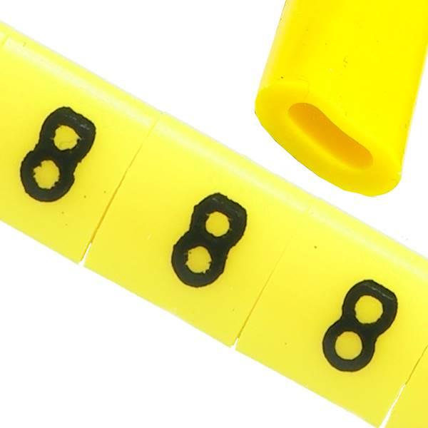 Oznacznik przewodów OZ-0 8 żółte 100szt