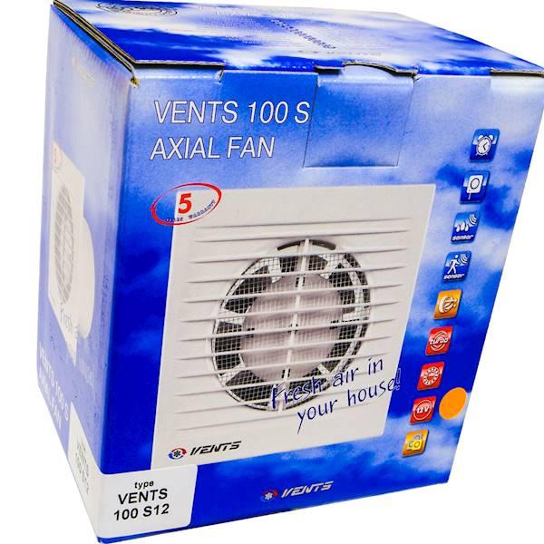 Wentylator domowy fi 100 12V 14W 95m3/h 100S12V