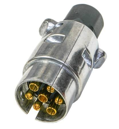 Wtyczka przyczepy aluminiowa 7 pinów 12/24V