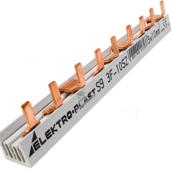 Szyna prądowa 3P 10mm2 63A 9 pin 45.219 3F