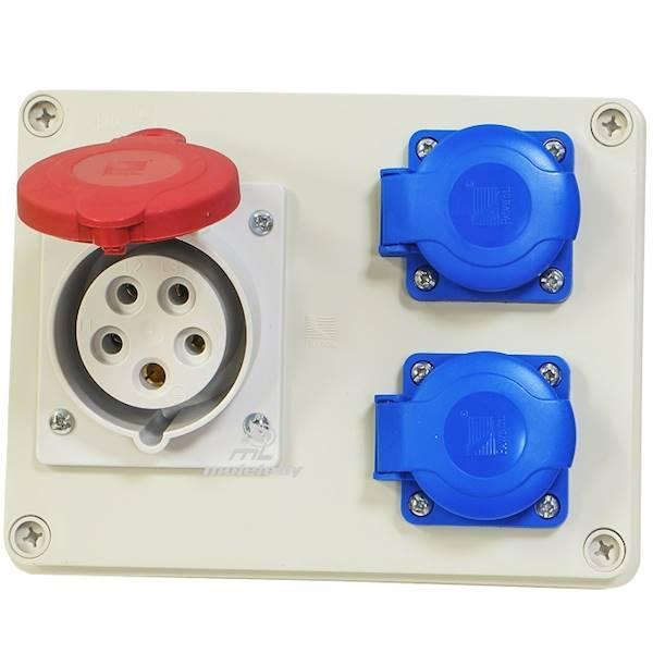 Rozdziel sta R-BOX 190 1x16A/5P 2x250V IP44 B.1602