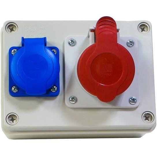 Rozdziel sta R-BOX 150 1x16A/4P 1x250V IP44 B.1202