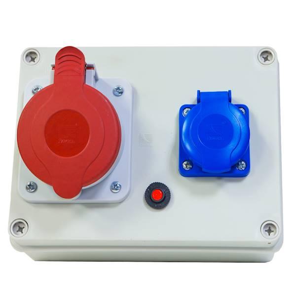 Rozdziel sta R-BOX 190 1x32A/5P 1x250V IP44 B.1215