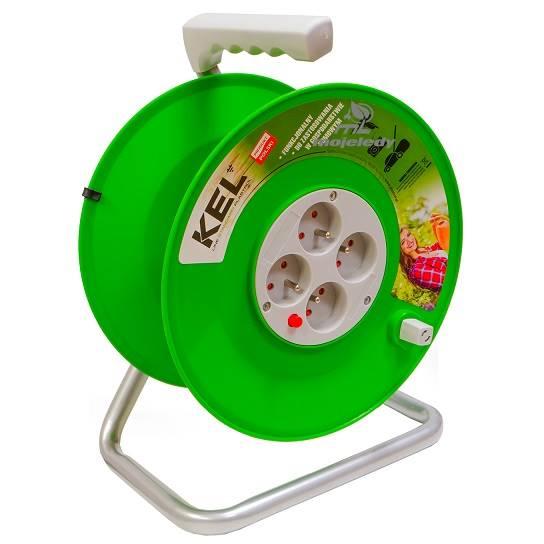 Nawijak bębn ziel 4G z/u max 50m 3x1,5 W-97081 KEL