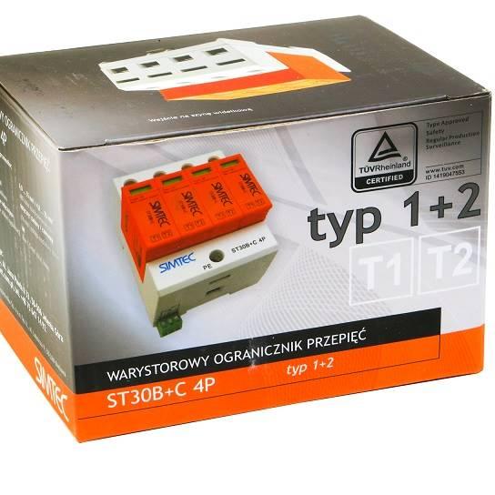 Ogranicznik przepięć B+C 4P 30kA 275V SIMTEC ST30B
