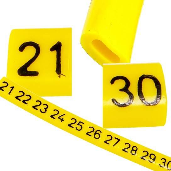 Oznacznik przewodów OZ-0 21-30 żółte 100szt