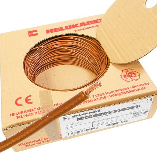 Przewód HELUKABEL Lgy linka 0,5mm brązowy 100m