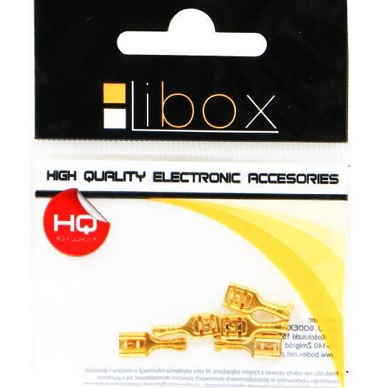 Konektor 6,3mm złoty żeński duży LIBOX LB0044 5szt