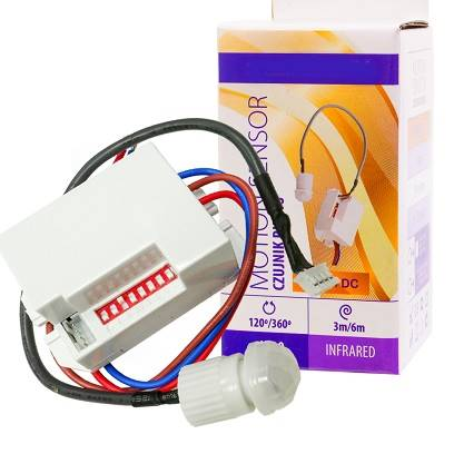 Czujnik ruchu sensorem 360st 12VDC 800W  LUX02056