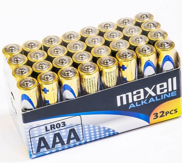 32 x bateria alkaliczna Maxell Alkaline LR03/AAA