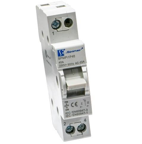 Modułowy przełącznik sieć-agregat 1P 40A SPMP 1P40