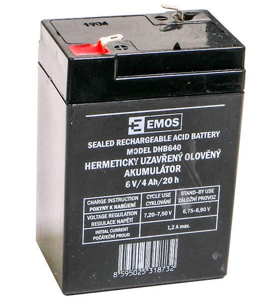 Akumulator ołowiowy AGM 6V 4Ah F4,7 B9641 EMOS