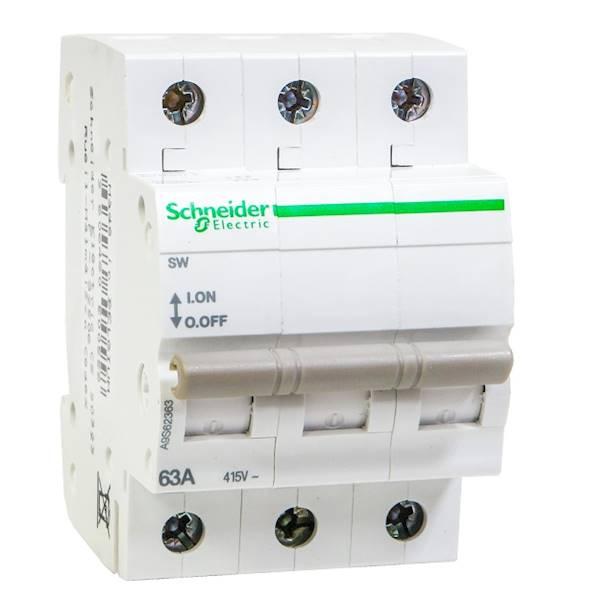 Rozłącznik modułowy 63A 3P SW-63-3 A9S62363