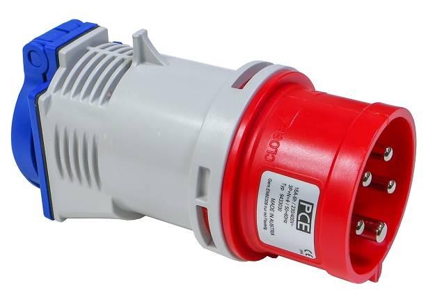 Wtyczka adapter 16A 5P 400V 16A/230 PCE