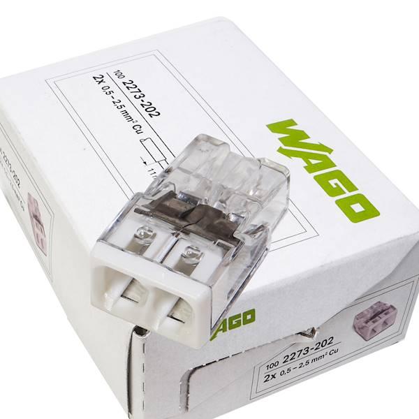 Szybkozłączka 2x 0,5-2,5mm WAGO 2273-202 100szt