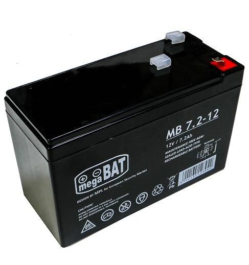 Akumulator ołowiowy AGM 12V 7.2Ah MB 7.2-12