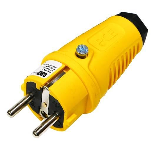Wtyczka gumowa 16A TAURUS2 0522-es żółta PCE